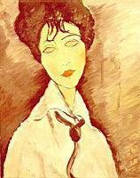 Портрет работы Модильани